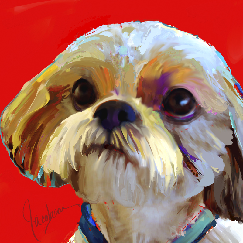Dog Paintings By Artist Jackie Jacobson Paintings From