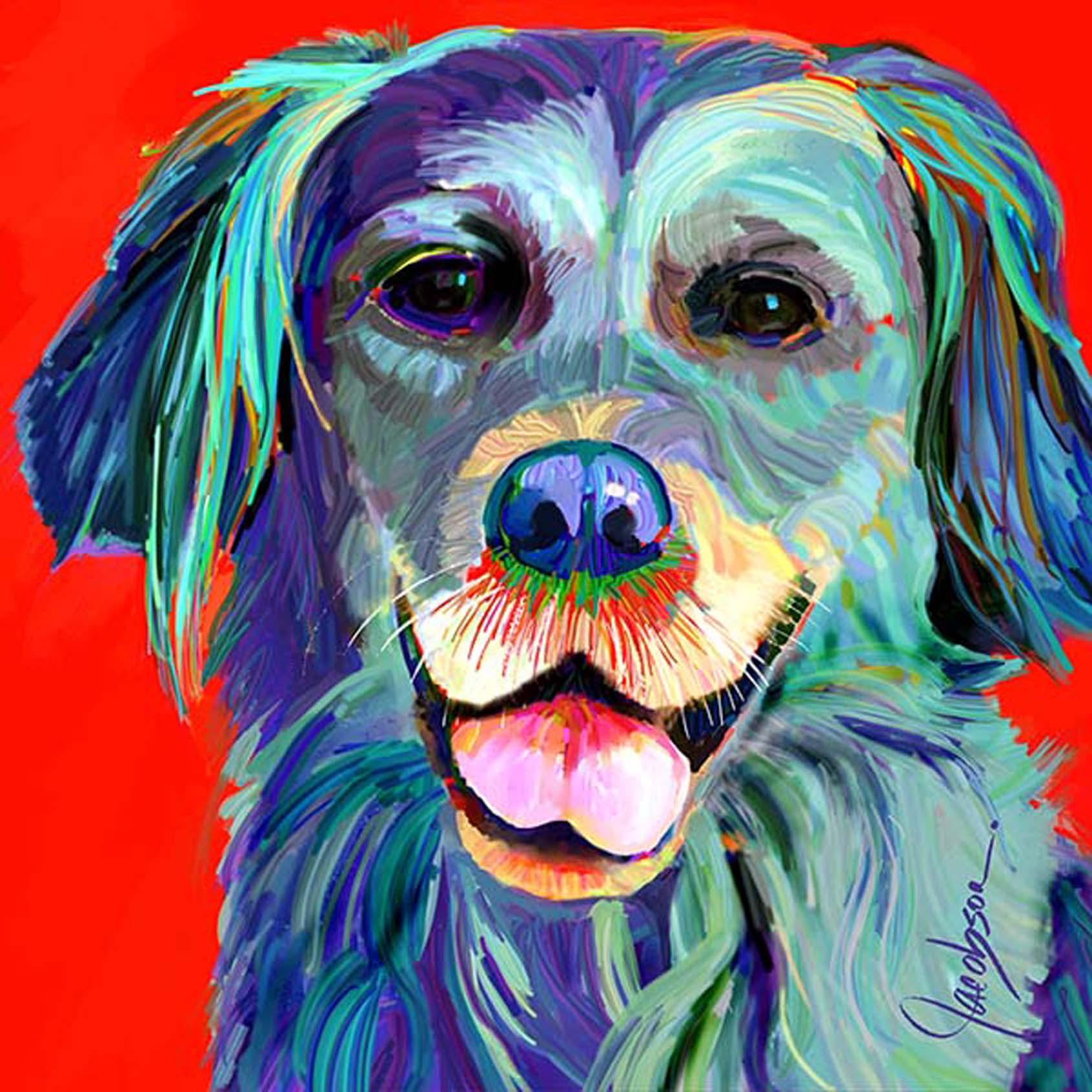 Dog Portraits - Golden Retriever