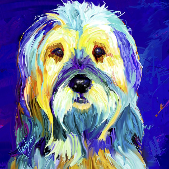 Porttuguese Water Dog, Dog Paintings