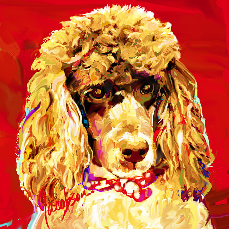 Dog Paintings by artist Jackie Jacobson – paintings from your photos