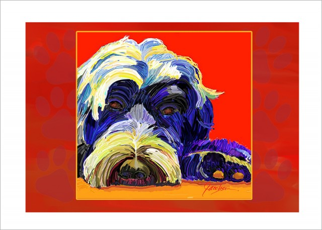 Note Card - Dog Paintings