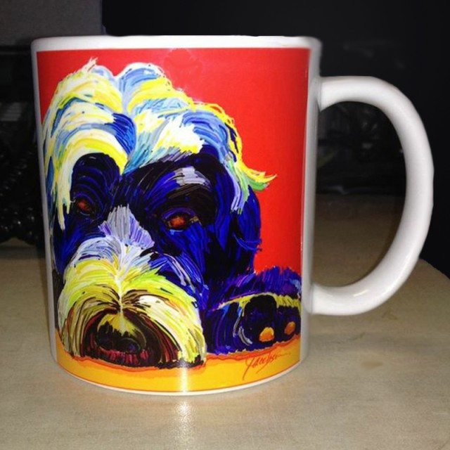 Coffee Mug - Dog Painting by Jackie Jacobson