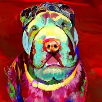 Dog Portraits, Shar-Pei