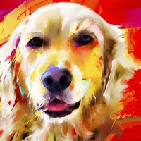 Dog paintings, Golden Retriever